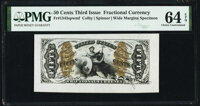 Fr. 1343SP 50¢ Third Issue Justice PMG Choice Uncirculated 64 EPQ