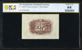 Fractional Currency:Second Issue, Fr. 1283SP 25¢ Second Issue Wide Margin Back PCGS Banknote Very Choice Unc 64.. ...