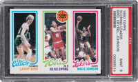 1980 Topps Larry Bird/Julius Erving/Magic Johnson PSA Mint 9