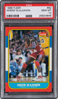 Basketball Cards:Singles (1980-Now), 1986 Fleer Akeem Olajuwon #82 PSA Gem Mint 10....