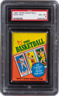 1980 Topps Basketball Unopened Wax Pack PSA NM-MT 8