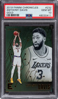 Basketball Cards:Singles (1980-Now), 2019 Panini Chronicles Gold Anthony Davis #232 PSA Gem Mint 10 - Serial Numbered 6/10....