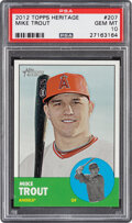 Baseball Cards:Singles (1970-Now), 2012 Topps Heritage Mike Trout #207 PSA Gem Mint 10. ...