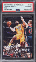 Basketball Cards:Singles (1980-Now), 2019 Panini Chronicles Red LeBron James #162 PSA Gem Mint 10 - Serial Numbered 53/149....