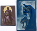 Original Comic Art:Illustrations, Matt Wagner and Craig Hamilton - Batman Specialty Illustrations Group of 2 Original Art (2001).... (Total: 2 Original Art)