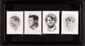 """Movie Posters:Miscellaneous, Kennedy Memorial Mass Cards (1963/1968). Very Fine+. Framed Prayer Cards (4) (9"""" X 16.75""""). Miscellaneous.. ... (Total: 4 Items)"""