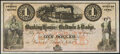 Obsoletes By State:Iowa, Council Bluffs, IA- Banking House of Baldwin & Dodge $1 185_ Remainder Oakes 27-1 Choice Crisp Uncirculated.. ...