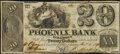 Obsoletes By State:Georgia, Columbus, GA- Phoenix Bank of Columbus $20 Dec. 1, 1842 G10 Very Fine-Extremely Fine.. ...