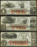 Obsoletes By State:Rhode Island, Warwick, RI- Warwick Bank $1; $2; $3 Oct. 1, 1857 G14a; G32a; G48a Crisp Uncirculated.. ... (Total: 3 notes)
