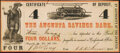 Obsoletes By State:Georgia, Augusta, GA- Augusta Savings Bank $4 Dec. 9, 1861 About Uncirculated.. ...