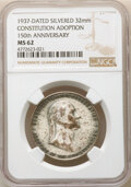 Washingtonia, 1937 Constitution Adoption 150th Anniversary, MS62 NGC. Silvered, 32 mm. ...