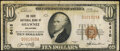 National Bank Notes:Oklahoma, Shawnee, OK - $10 1929 Ty. 1 The State National Bank Ch. # 6416 Fine-Very Fine.. ...