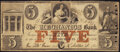 Obsoletes By State:Pennsylvania, Pittsburgh, PA- Mechanics Bank (of Pittsburgh) Spurious $5 Jan. 9, 1856 S5 Very Good-Fine.. ...