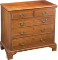 Furniture, A Federal-Style Chest of Drawers, 19th century. 31-3/4 x 34-3/4 x 18-1/4 inches (80.6 x 88.3 x 46.4 cm). ...