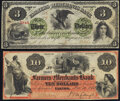Obsoletes By State:Maryland, Elkton, MD- Farmers and Merchants Bank of Cecil County $10 Nov. 10, 1864 G10b Very Fine;. Greensborough, MD- Farmers a... (Total: 2 notes)