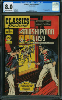 Classics Illustrated 74 First Edition - ORIGINAL EDITION (Gilberton, 1950) CGC VF 8.0 Off-white to white pages