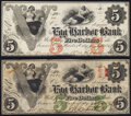 Obsoletes By State:New Jersey, Egg Harbor City, NJ- Egg Harbor Bank $5 (2) 1861 G6a; G6b Choice About Uncirculated.. ... (Total: 2 notes)