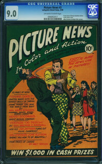 Picture News #3 (Lafayette Street Corp., 1946) CGC VF/NM 9.0 Off-white to white pages