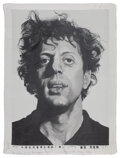 Prints & Multiples, Chuck Close (b. 1940). Phil, 1991. Woven silk tapestry. 51 x 39 inches (129.5 x 99.1 cm). Ed. 44/50. Signed, numbered, d...