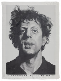 Chuck Close (b. 1940) Phil, 1991 Woven silk tapestry 51 x 39 inches (129.5 x 99.1 cm) Ed. 44/5