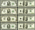 Small Size:Federal Reserve Notes, Selection of $50 and $100 Federal Reserve Notes. About Uncirculated or Better.. $50s Fr. 2100-L 1928; Fr. 2101-G $1928A;... (Total: 8 notes)