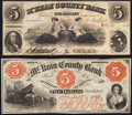 Obsoletes By State:Pennsylvania, Smethport, PA- M'Kean County Bank Spurious $5, July 26, 1858 S5 Choice About Uncirculated;. Smethport, PA- Mc Kean Cou... (Total: 2 notes)