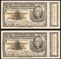 Pair of Admission Tickets to the 1936 Democratic National Convention, Franklin Field Ceremonies, June 27, 1936 - Special...