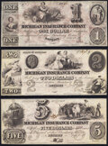 Obsoletes By State:Michigan, Detroit, MI- Michigan Insurance Company $1; $2; $5 July 1, 18__ Remainders G34a; G38a; G44a Choice About Uncirculated or B... (Total: 3 notes)