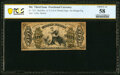 Fr. 1351 50¢ Third Issue Justice PCGS Banknote Choice AU 58