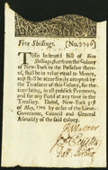 Colonial Notes:New York, New York May 31, 1709 5s. ...