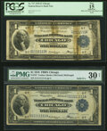 Solid 1 Serial Numbers Fr. 727 $1 1918 Federal Reserve Bank Notes Two Examples