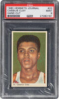 Boxing Cards:General, 1960 Hemmets Journal Cassius Clay (Muhammad Ali) Rookie #23 PSA Mint 9....