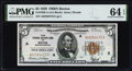 Fr. 1850-A $5 1929 Federal Reserve Bank Note. PMG Choice Uncirculated 64 EPQ