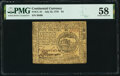Continental Currency July 22, 1776 $4 PMG Choice About Unc 58