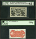 Fractional Currency:Third Issue, Fr. 1274SP/1273SP 15¢ Third Issue Narrow Margin Pair PMG Gem Uncirculated 66 Net/PCGS Gem New 66PPQ.. ... (Total: 2 notes)