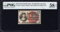 Fractional Currency:Fourth Issue, Fr. 1261 10¢ Fourth Issue PMG Choice About Unc 58 EPQ.. ...