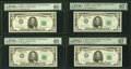 Small Size:Federal Reserve Notes, $5 1963-1963A Federal Reserve Notes. PMG Graded. . ... (Total: 8 notes)