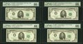 Small Size:Federal Reserve Notes, Fr. 1968-B*; C; F; G; I*; L* $5 1963A Federal Reserve Notes. PMG Graded. . ... (Total: 6 notes)