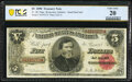 Large Size:Treasury Notes, Fr. 361 $5 1890 Treasury Note PCGS Banknote Very Fine 20.. ...