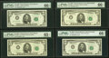 Small Size:Federal Reserve Notes, Fr. 1969-A* (2); C*; D; D*; F*; G; I; J* $5 1969 Federal Reserve Notes. PMG Graded.. ... (Total: 9 notes)