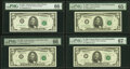 Small Size:Federal Reserve Notes, Fr. 1969-A*; B; C* (2); E*; F*; G; I*;K $5 1969 Federal Reserve Note. PMG Graded.. ... (Total: 9 notes)