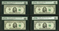 Small Size:Federal Reserve Notes, $5 1969C Federal Reserve Notes PMG Graded.. Fr. 1972-B Gem Uncirculated 66 EPQ;. Fr. 1972-D Gem Uncirculated 66 EPQ;... (Total: 8 notes)