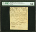 Province of New Hampshire December 25, 1734 Portsmouth Merchants' Note 7 Shillings Fr. NH-38.4 PMG Choice Extremely Fine...