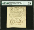 Province of New Hampshire December 25, 1734 Portsmouth Merchants' Note 12d/1s Fr. NH-38.1 PMG Choice Very Fine 35