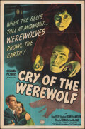 """Movie Posters:Horror, Cry of the Werewolf (Columbia, 1944). Folded, Fine+. One Sheet (27"""" X 41""""). Horror.. ..."""