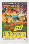 """Movie Posters:Science Fiction, Thunderbirds Are Go (United Artists, 1968). Folded, Fine+. One Sheet (27"""" X 41""""). Science Fiction.. ..."""