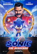 """Movie Posters:Action, Sonic the Hedgehog (Paramount, 2020). Rolled, Very Fine+. One Sheet (27"""" X 40"""") DS Advance. Action.. ..."""