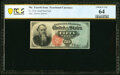 Fr. 1376 50¢ Fourth Issue Stanton PCGS Banknote Choice Unc 64