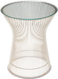 Furniture, Warren Platner (American, 1919-2006). Side Table, circa 1966. Chrome-plated steel, glass. 18 x 16 inches (45.7 x 40.6 cm... (Total: 2 Items)