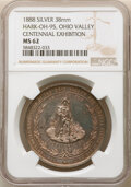 1888 Medal Ohio Valley Centennial Exhibition, Hark-OH-95, MS62 NGC. Silver, 38 mm